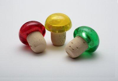 Tappo testa plastica Bombata colorata