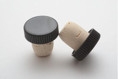 Tappo testa plastica zigrinata Nero